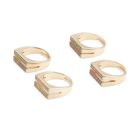 Bague en cuivre zircon micro-incrusté à double rangée de mode en gros NHYL331833's discount tags