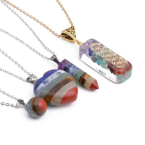 Mode Naturstein Herzform Halskette Großhandel NHYL331848's discount tags