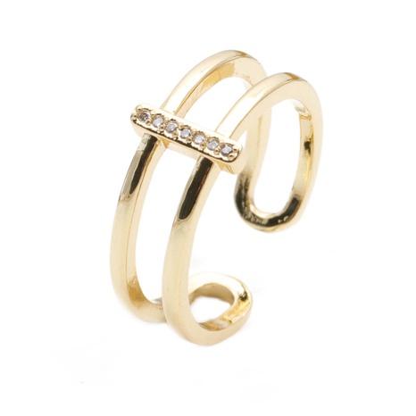 Bague en zircon en cuivre ouvert à la mode NHYL331860's discount tags