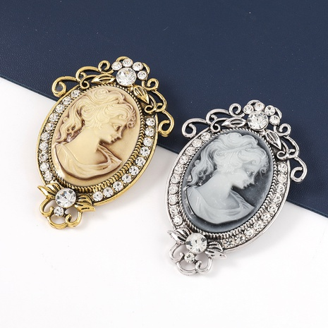 Broche en alliage rétro à clous de diamants en relief NHJE331937's discount tags