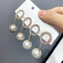 fashion full diamond pearl stud earrings NHFS331941