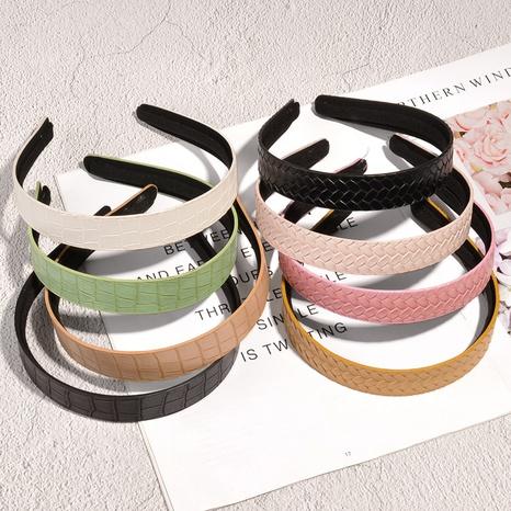 Koreanisch einfarbig gewebtes Stirnband NHAQ331987's discount tags