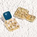 Korean pearl diamond hollow earrings NHAQ332008