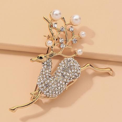 jolie broche cerf en strass perle créative NHNJ332044's discount tags
