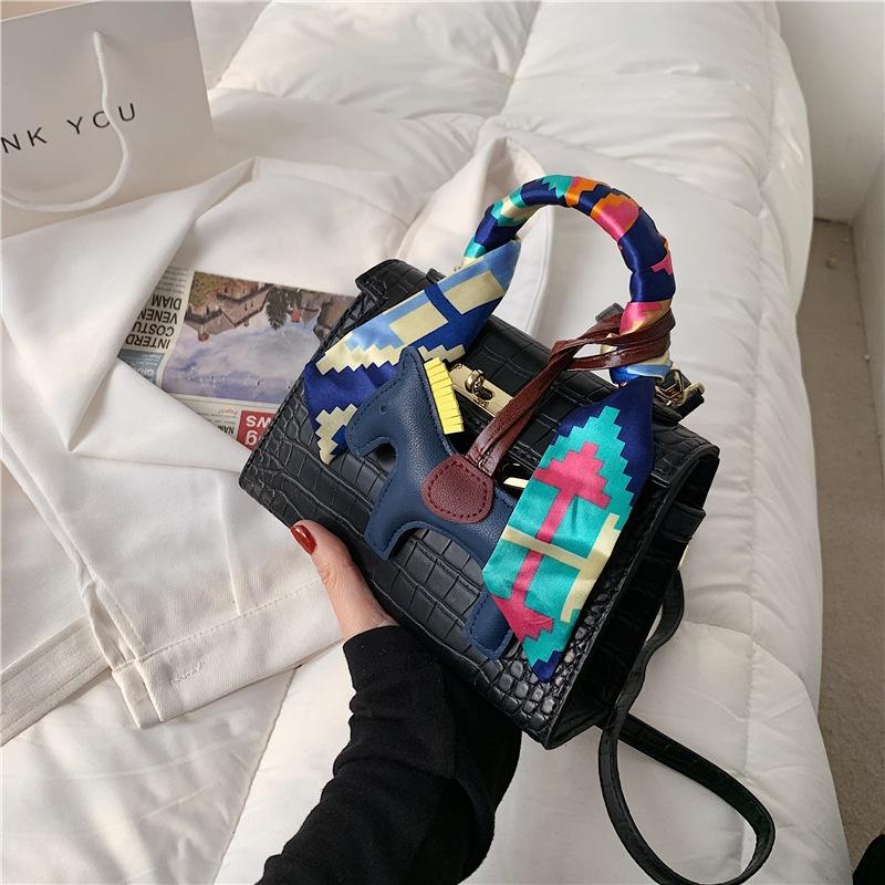 Fashion stone pattern messenger shoulder portable square bag NHLH332060