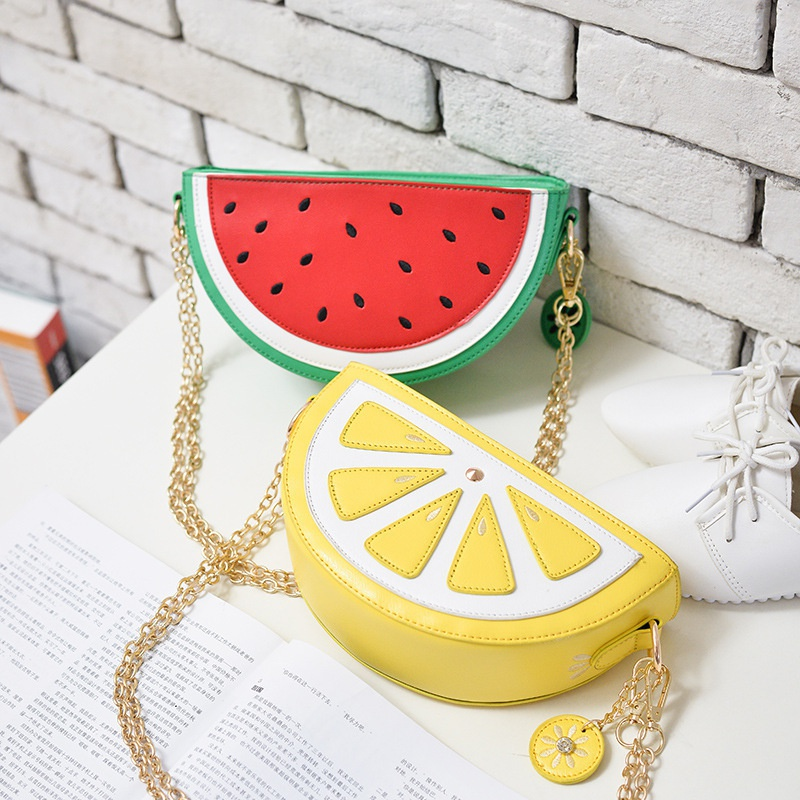 cartoon fruit chain shoulder bag NHAV332076