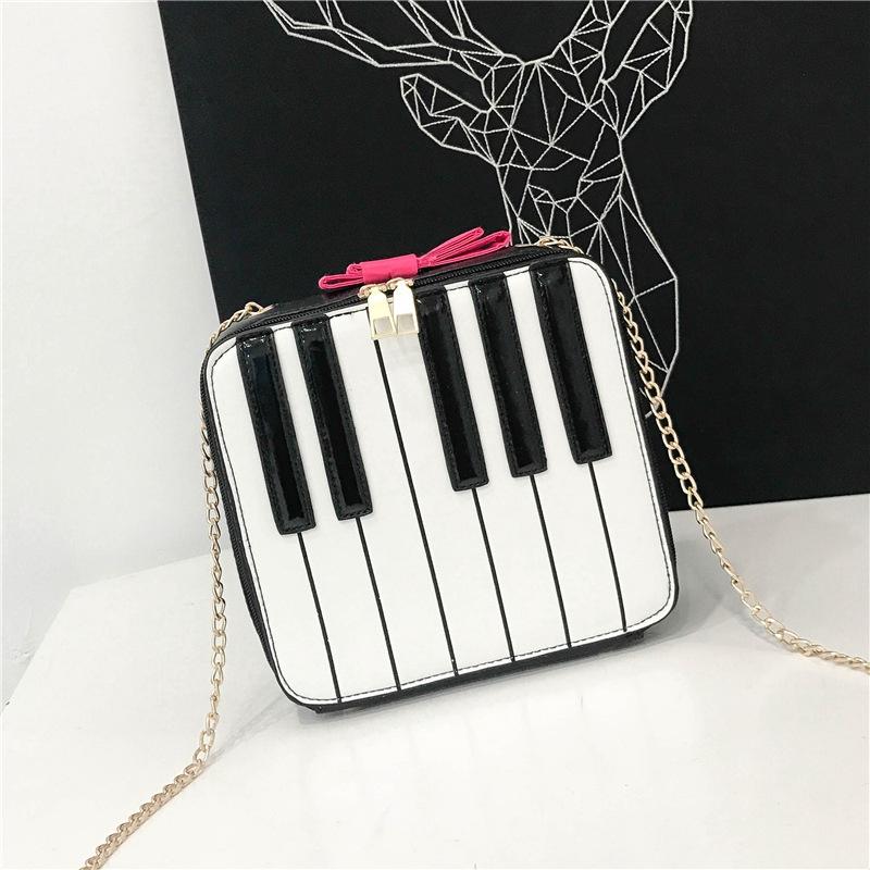 Korean piano key small square bag  NHAV332079