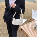 neue trendige Mode einfarbige Baguette Achsel Tasche NHJZ332148