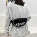 fashion metal chain messenger chest bag  NHJZ332170