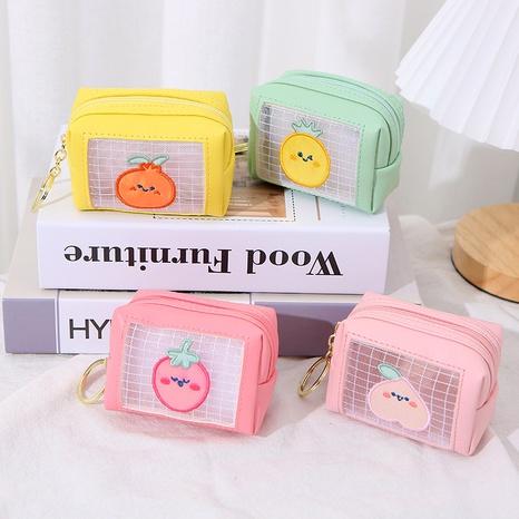 Corée nouvelle mignonne étui à pièces de fruits en maille de couleur gelée NHAE332214's discount tags