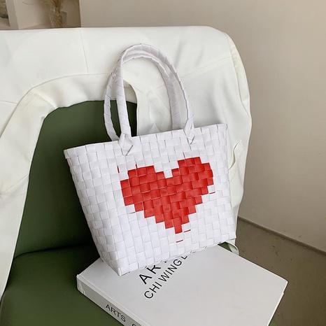 fashion heart straw woven handbag NHJZ332230's discount tags