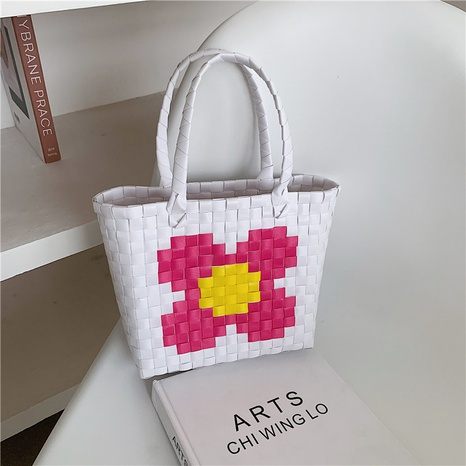 Korean large-capacity woven handbag wholesale NHJZ332267's discount tags