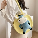 Mode Stroh Schulter runde Tasche Grohandel NHTG332318