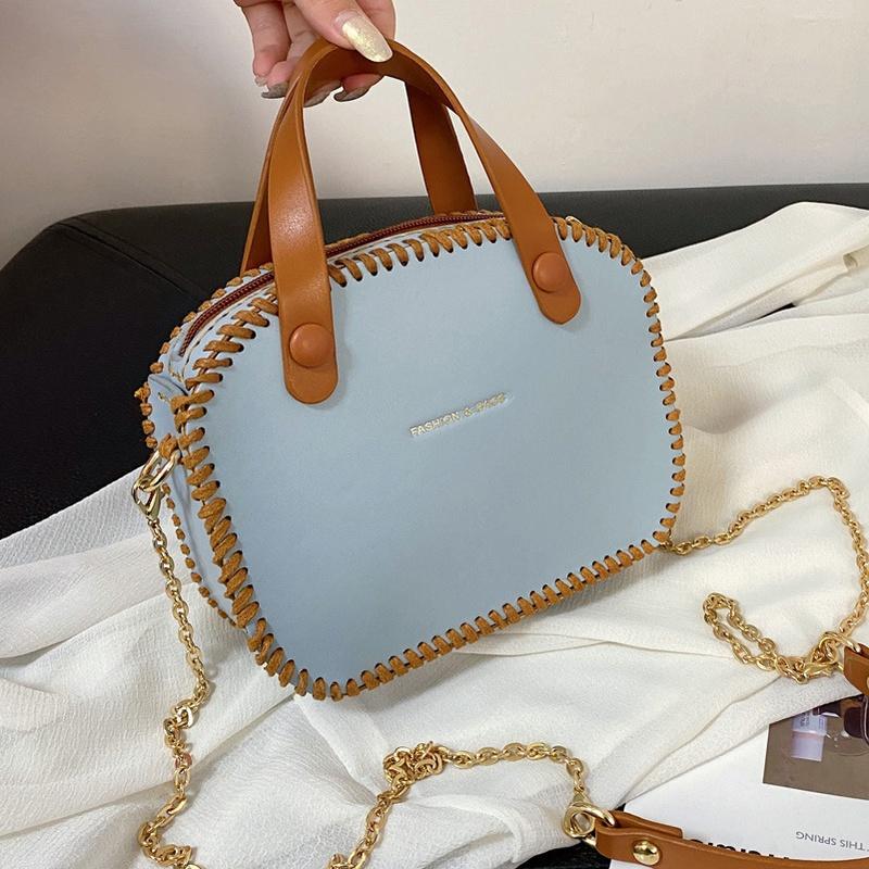 Fashion woven portable shoulder messenger small square bag NHTG332321