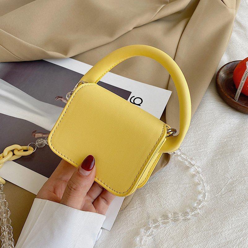 Fashion beaded chain messenger shoulder portable bag NHTG332334