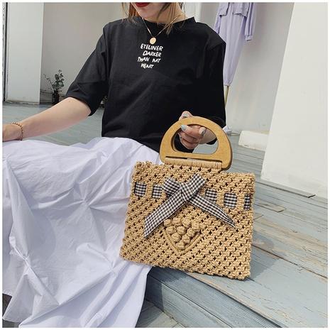 Fashion woven bow portable bag NHTG332345's discount tags