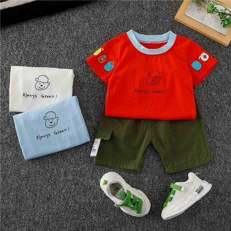 T-shirt et tailleur court en coton alphabet 80-120cm NHWU332684's discount tags