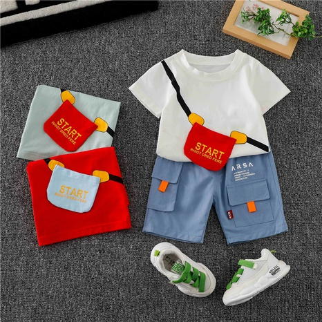 T-shirt et sac à bandoulière en coton pour enfants de 80 à 120 cm NHWU332682's discount tags