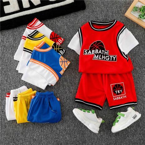 Carte de mode couture uniforme de basket-ball coton costume pour enfants 90-140cm NHWU332681's discount tags