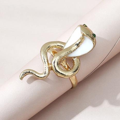 Korean creative exaggerated wild cobra ring NHPS332518's discount tags