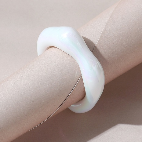 Korean creative simple wild resin ring NHPS332522's discount tags