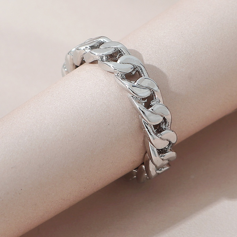 simple wild chain copper open ring NHPS332523