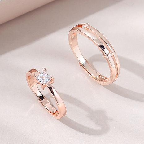 French fashion wild copper love couple ring NHPS332532's discount tags