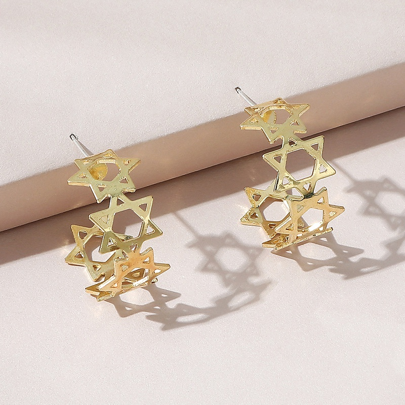 Korean creative star earrings NHPS332539