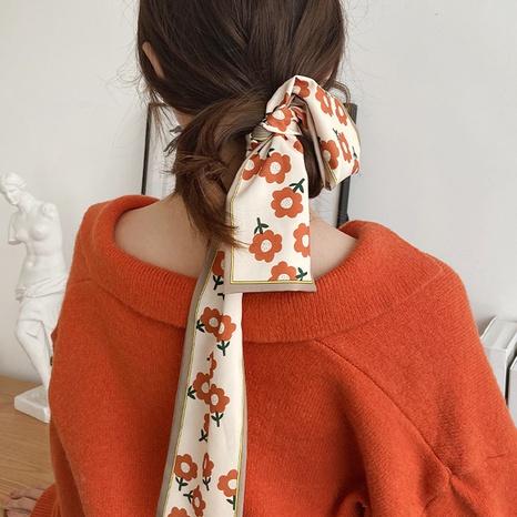 Korea silk scarf printing headband wholesale NHDP332597's discount tags