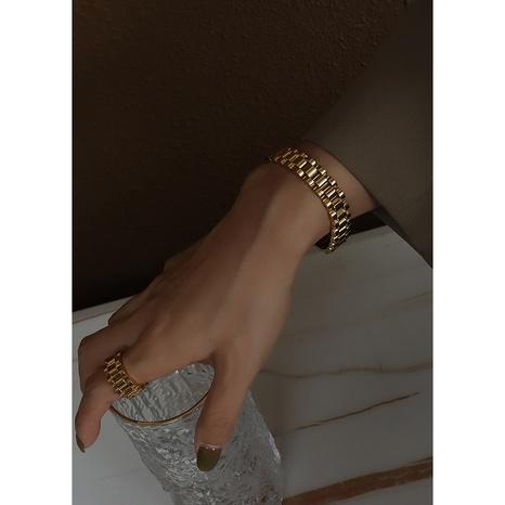 Simple geometric titanium steel bracelet wholesale NHOK332621's discount tags