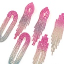 fashion colorful diamondstudded tassel earrings  NHJE332635