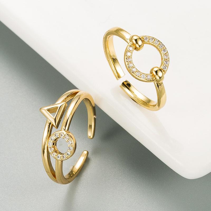 fashion micro-inlaid zircon open ring  NHLN332648