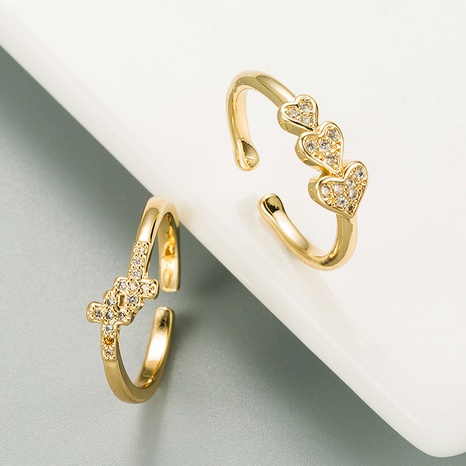 new fashion love zircon open ring  NHLN332652's discount tags