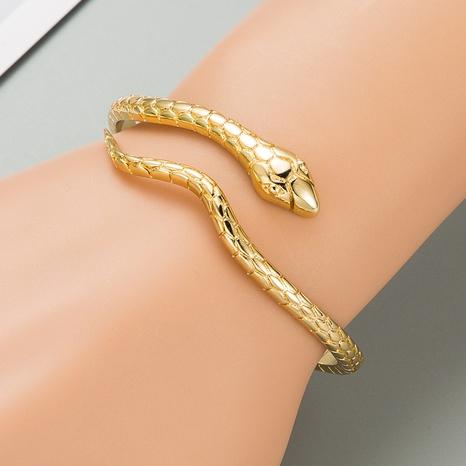 Fashion golden snake-shaped copper bracelets NHLN332654's discount tags