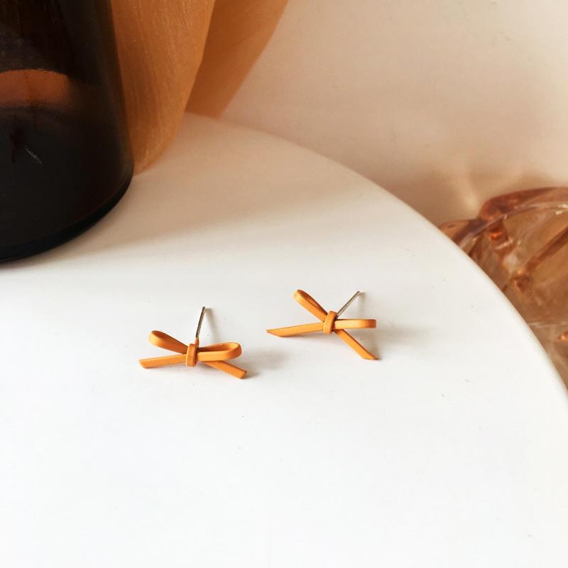 Fashion Bow Metal Earrings Wholesale NHBY332688