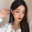 Fashion diamond tassel copper earrings wholesale NHBY332714