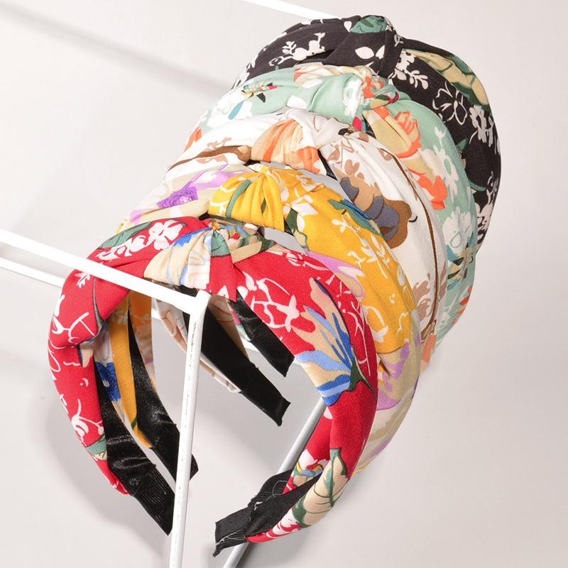 Korean printing fabric headband  NHWB332743