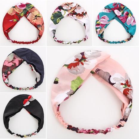 Diadema floral de tela hecha a mano coreana NHWB332754's discount tags