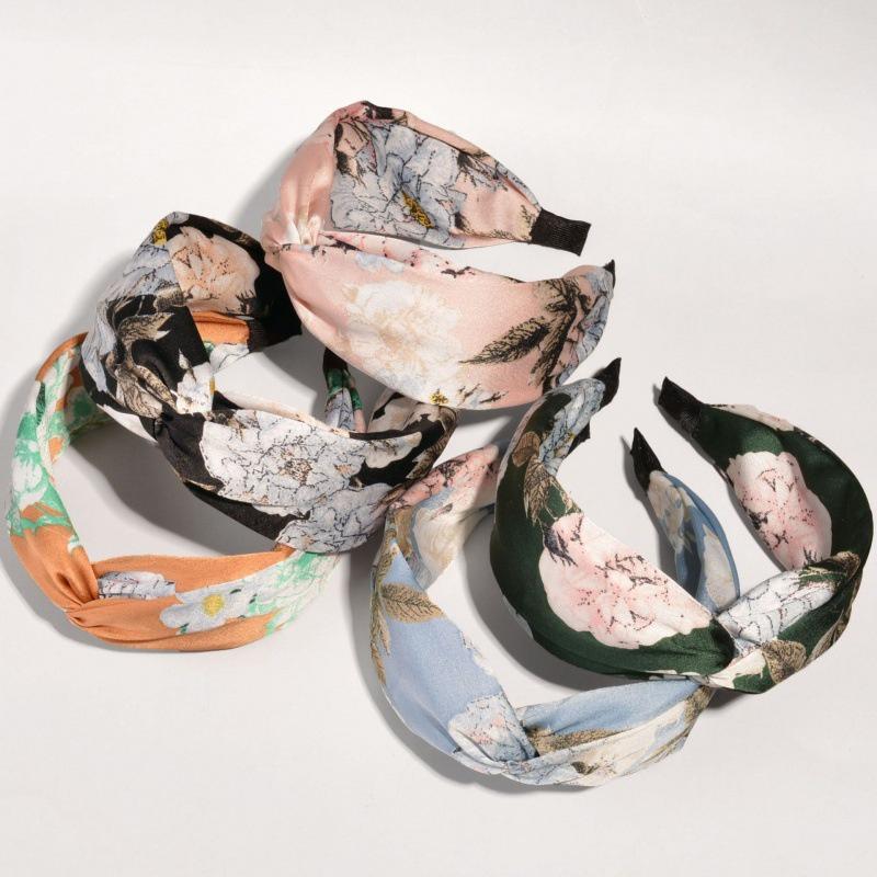 Korean floral broad-brimmed headband  NHWB332764
