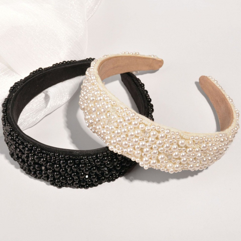 Baroque handmade beaded flannel headband  NHWB332770