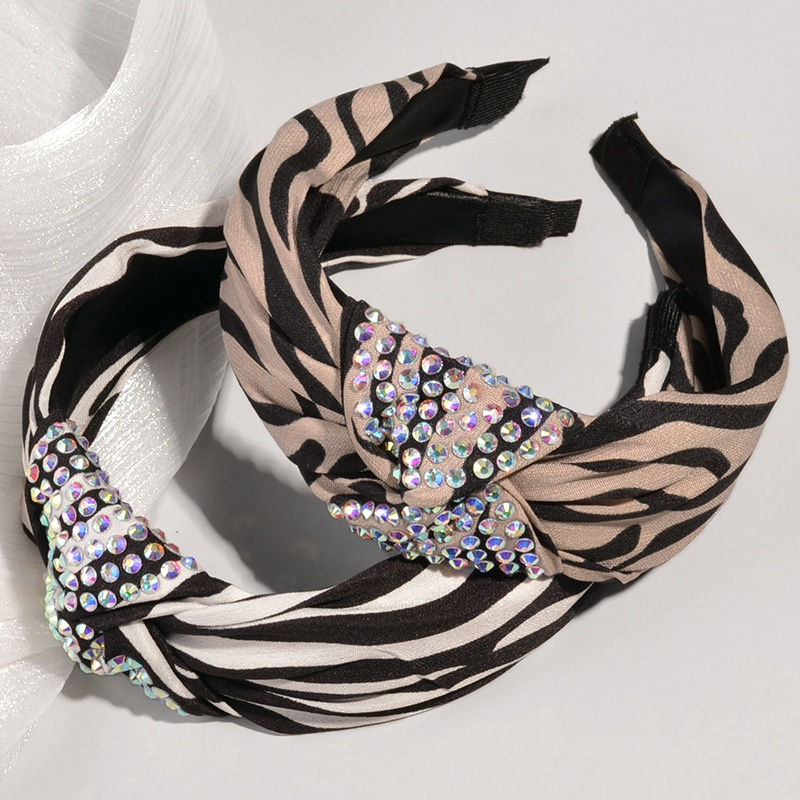 fashion striped colorful diamond headband NHWB332771