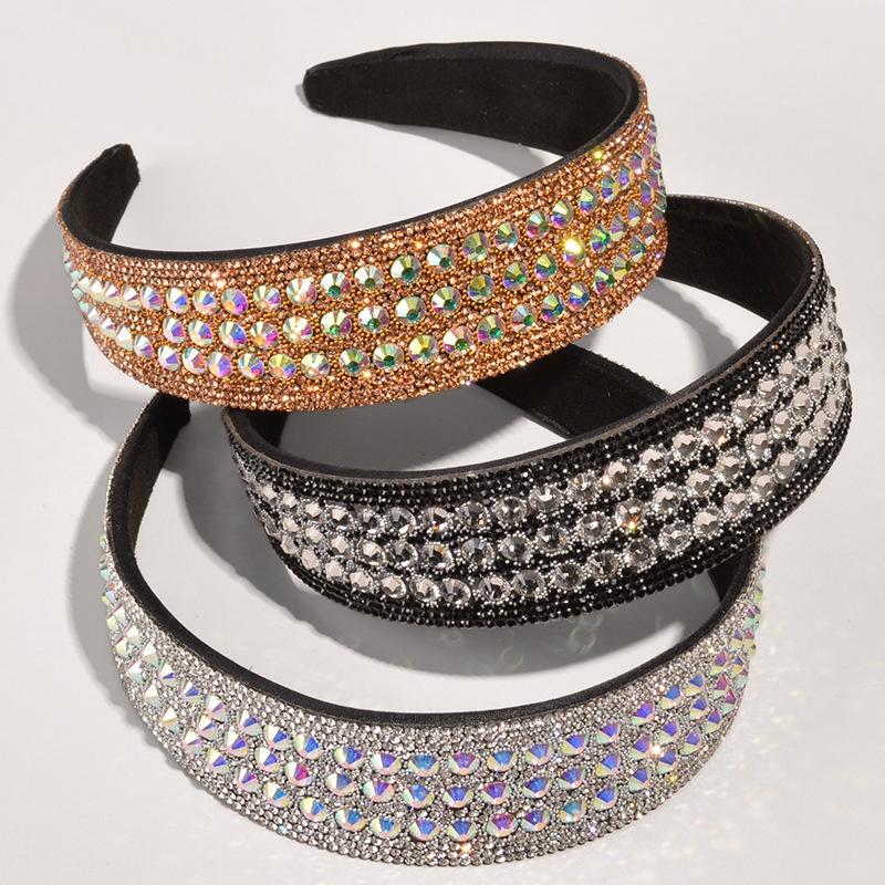 Baroque crystal diamond broad-brimmed headband NHWB332767