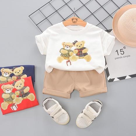 Ensemble short t-shirt en coton ourson cadeau pour enfants de 80 à 120 cm NHWU332667's discount tags
