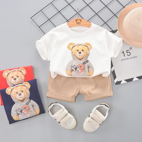 Sac à bandoulière dessin animé ours t-shirt en coton pour enfants de 80 à 120 cm NHWU332675's discount tags