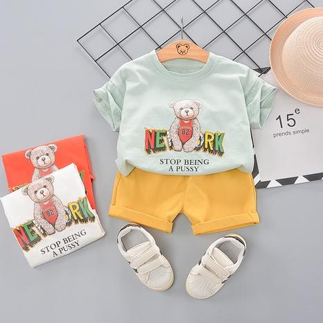 T-shirt en coton alphabet anglais messenger ours t-shirt pour enfants de 80 à 120 cm NHWU332666's discount tags
