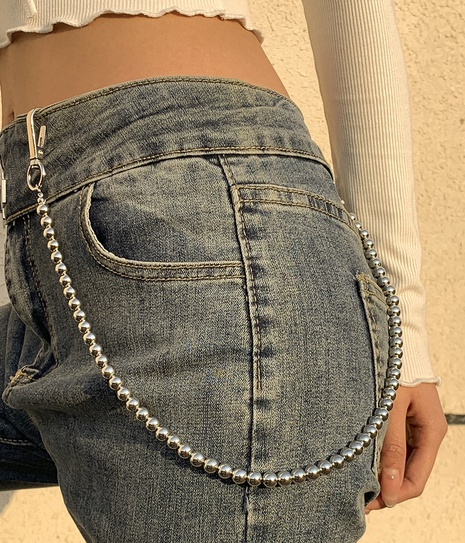 Simple beaded metal body chain wholesale NHXR332853's discount tags
