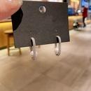 Korean zircon microinlaid pearl earrings  NHCG332993