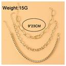 Bracelet de cheville en alliage sexy multicouche  la mode NHCT333034
