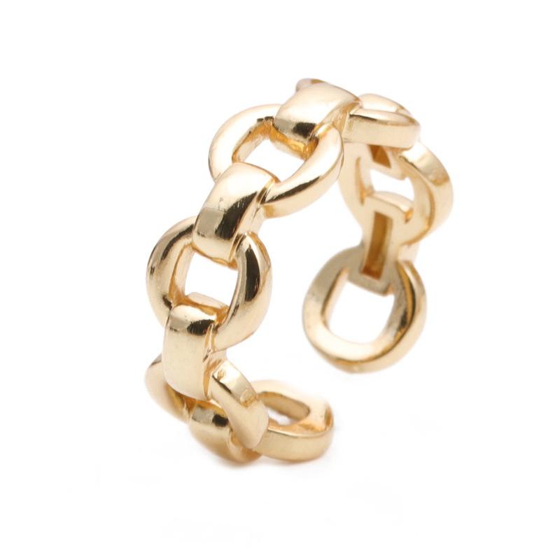 Korean retro simple chain shape ring NHYL333059