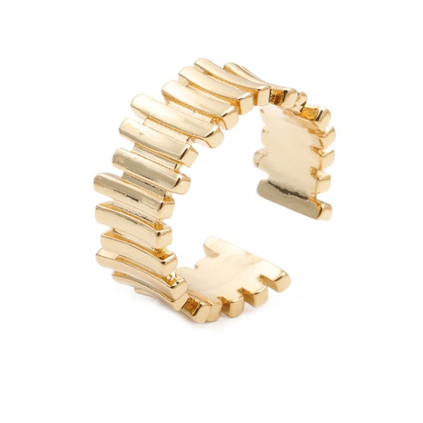fashion irregular copper fold open ring NHYL333071's discount tags